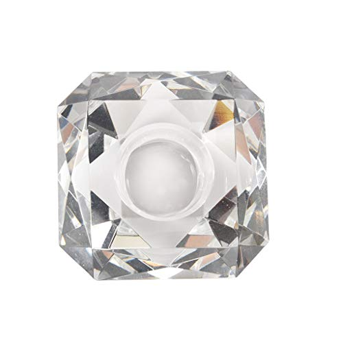 TIREOW Romantik Schaffen Klare Kristallglas Kerzenhalter Teelicht Stehen Kerze Gestell Laterne...
