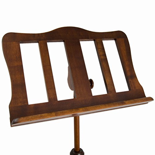 Theodore Baroque Style Walnut Wooden Music Stand