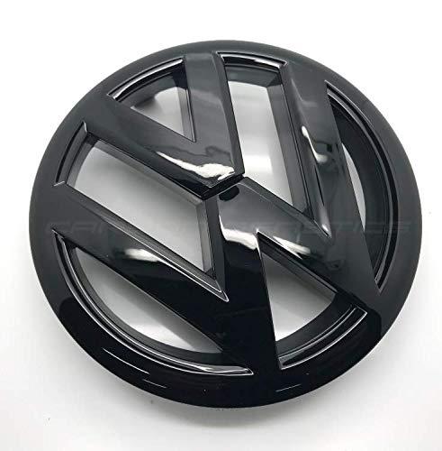 6 Grill (Schwarz glänzend 135mm Vorderes Grill Bonnet Abzeichen Emblem Für Golf 6 MK6 2009-2012)