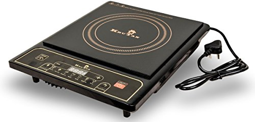 KRUTAN Ceramic Induction Cook-Top with 7 Cooking Functions (KIC-02/16, Black)