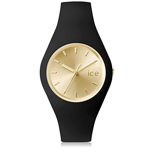 Ice-Watch - ICE chic Black Gold - Reloj nero para Mujer con Correa de silicona - 001394 (Medium)