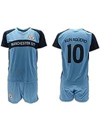 Conjunto Fútbol Sergio El Kun Aguero 10 Manchester City Azul Temporada  2018-2019 Replica Oficial 4527fdc51e4