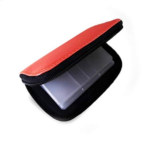Wenwenzui Durable Memory Card Storage Bag Holder Secure Digital Card Phone Camera Pack Orange Universal Memory Card Wallet