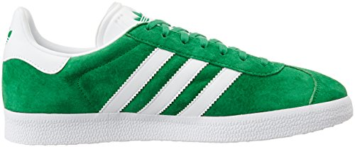 adidas - Gazelle, Scarpe da Ginnastica Unisex Adulto Verde (Green/White/Gold Met)