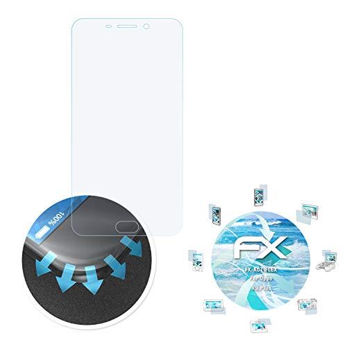atFolix Schutzfolie passend für Oppo R9 Plus / F1 Plus Folie, ultraklare & Flexible FX Bildschirmschutzfolie (3X)