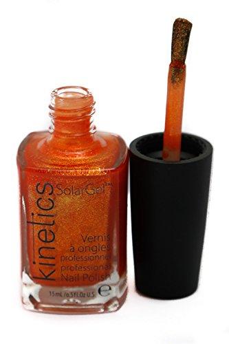 Kinetic Solar Gel Nail Polish, 235 Orange Blizzar, 15ml