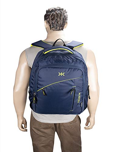 Killer Louis 38L Large Navy Blue Polyester Laptop Backpack with 3 Compartments Image 8