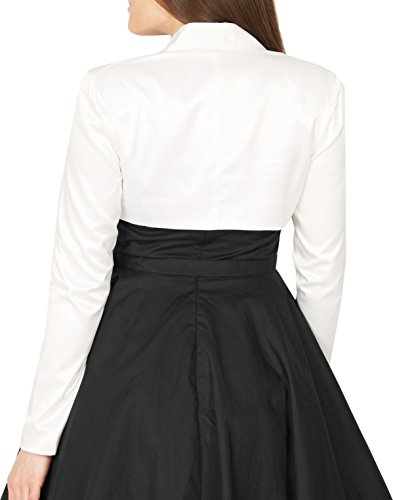 BlackButterfly formal Satin langen Ärmel Bolero Elfenbein