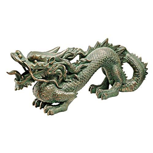 Design Toscano Asiatischer Drachen der Chinesischen Mauer, Maße: 11,5 x 53,5 x 20,5 cm