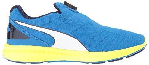 Puma Ignite Disc Toile Chaussure de Course Elec Blue- Wht- Safety Yellow