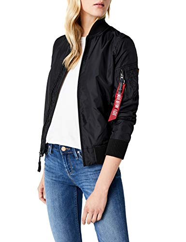 Alpha Industries Damen Bomberjacke Ma-1 TT Schwarz (Black 03) Medium