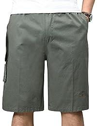 AnyuA Pantalones Cortos Para Hombre Vintage Militares Cargo Shorts Sweat Bermudas