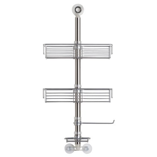 InterDesign Forma Bathroom Shower Caddy Station for Shampoo, Conditioner, Soap - Brushed Stainless Steel by InterDesign