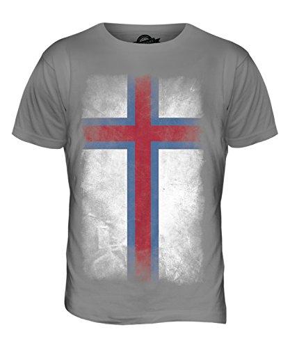 CandyMix Färöer Verblichen Flagge Herren T Shirt Hellgrau