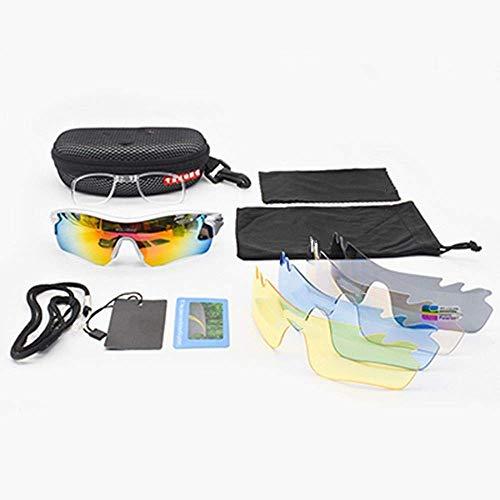 GFF Polarisierte Brille MTB Mountainbike 5 objektiv Brille uv400 Sport Fahrrad Sonnenbrille Laufen fischen Fahren Glas myopie