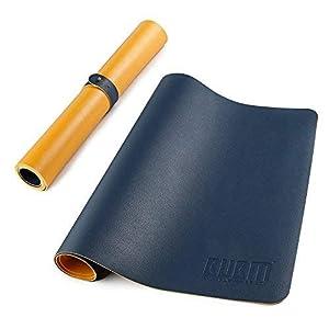 Großer Mauspad Gaming-Schreibtisch Protektor Pad Wasserdicht chaktomuk, Rutschfeste PU-Leder Matte Schreiben für Desktops Laptops mit tragbaren Band? Ultra Thin-2mm 80x 39,9cm
