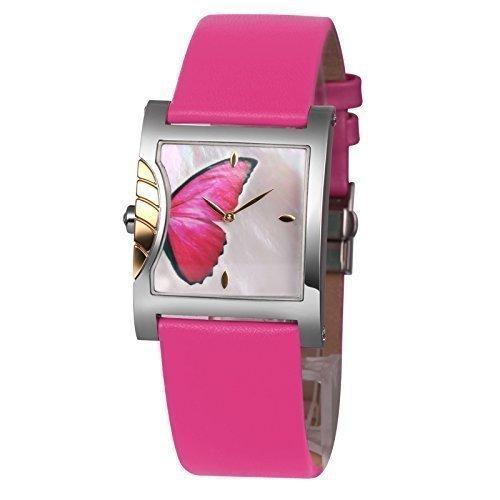 TIME100 Schmetterling Liebhaber-Armbanduhr Shell Quarz Leder #W50265L.02A