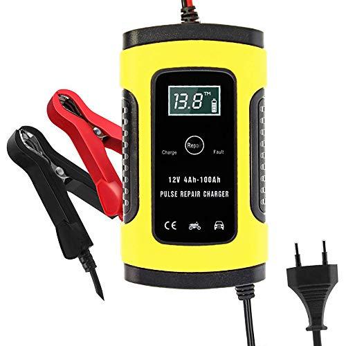 Charger-EJOYDUTY Vollautomatisches Autobatterieladegerät, 6A 12V Smart Protection Autobatterie, mit LCD-Bildschirm, zum Laden, Warten und Reparieren von Batterien für Verschiedene Fahrzeuge
