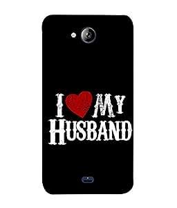PrintVisa Designer Back Case Cover for MIcromax Unite 3 Q372 (I love my husband)