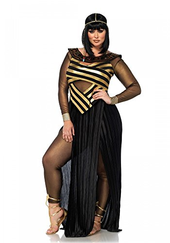 tüm von Leg Avenue Ägypterin Gold/Schwarz Kleid Pharaonin, Größe:XL/XXL (Plus Size Göttin Kostüme)