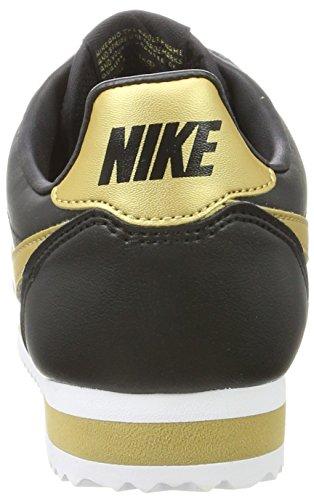 Nike Damen Classic Cortez Leather Sneaker Schwarz (nero / Oro Metallizzato)