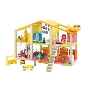 Sevi - 82381 - Figurine - Maison Poupée avec Meubles - 78 Pièces + Accessoires