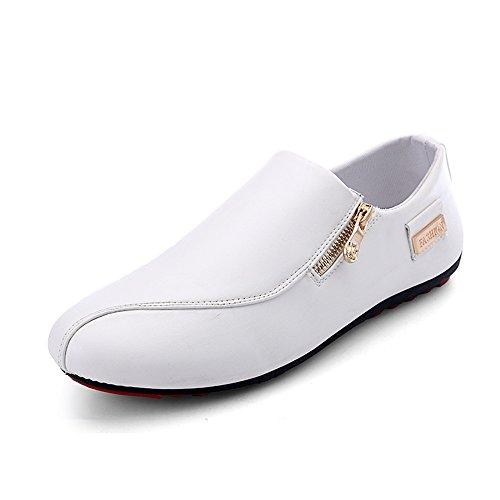 CUSTOME Homme Chaussures Cuir Appartement Glisser sur Doux Mode Respirant Loisir Poids léger Confortable Chaussures Flâneurs