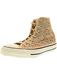 Converse Chuck Taylor All Star, Chaussons Montants Mixte Adulte - Or - Gold (Light Gold/Light Gold), 39 EU