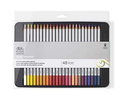 Winsor & Newton matite - scatola in metallo - 48 matite colorate