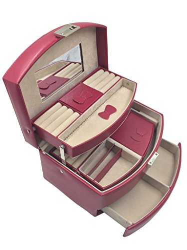 Knott Magenta Jewellery cum Makeup case