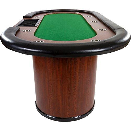 Maxstore Pokertisch ROYAL Flush, 213 x 106 x75 cm, Farbwahl, Gewicht 58kg, 9 Getränkehalter, gepolsterte Armauflage - 2