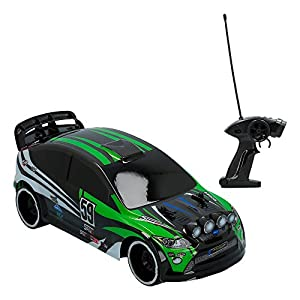 ColorBaby- Coche radiocontrol Rally de Speed&Go Escala 1:16 Ver, Color Verde (85351)