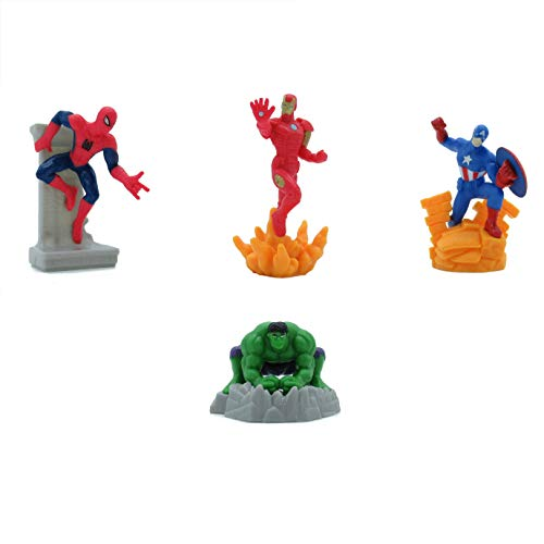 (Avengers Set 4 Mini Figuren 7cm Kuchen Topper Cake Topper Spider Man Iron Man Captain America Hulk Original)