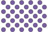 Kleb-drauf® - 35 Punkte/Blau - glänzend - Aufkleber zur Dekoration von Wänden, Glas, Fliesen und allen anderen glatten Oberflächen im Innenbereich; aus 19 Farben wählbar; in matt oder glänzend