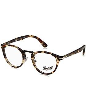 Persol 0PO3107V, Monturas de Gafas para Hombre, Havana Grey Brown, 47