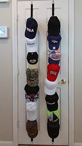 Baseball Cap Rack Storage. Dos bastidores permiten