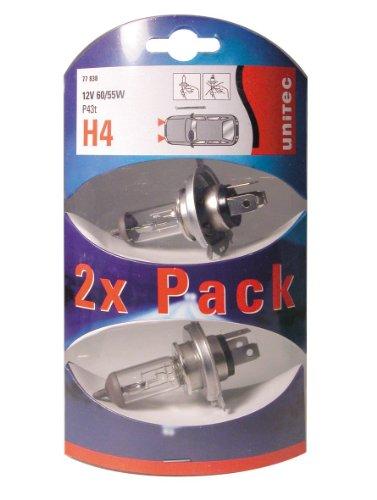 Preisvergleich Produktbild Unitec 77838 Unitec Doppelpack 2x H4