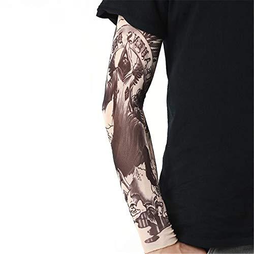 Jinrui-sport manicotto del tatuaggio maniche per tatuaggi con protezione solare, tatuaggi per uomo e donna, l, rose red 36 2 confezioni