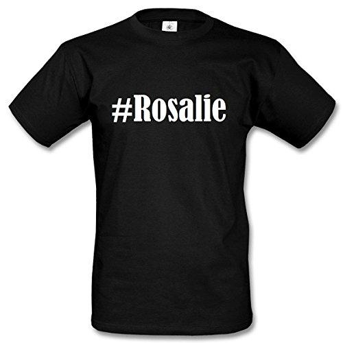 T-Shirt #Rosalie Hashtag Raute für Damen Herren und Kinder ... in den Farben Schwarz und Weiss Schwarz