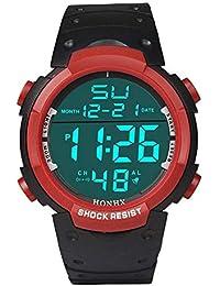 a37ff9adfd60 Moda Lujo Reloj Unisex Reloj Hombre Relojes Inteligente LED Digital con  Banda de Silicona Smartwatch Impermeable