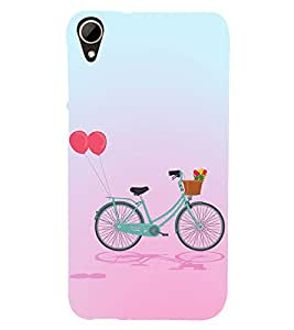 Clipart Bicycle Design 3D Hard Polycarbonate Designer Back Case Cover for HTC Desire 828 :: HTC Desire 828Q :: HTC Desire 828S :: HTC Desire 828G+ :: HTC Desire 828 G Plus :: HTC Desire 828 Dual Sim