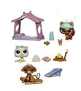 Hasbro Poupée - 93138 - Littlest Petshop 3 et Accessoires - Journée à la Neige