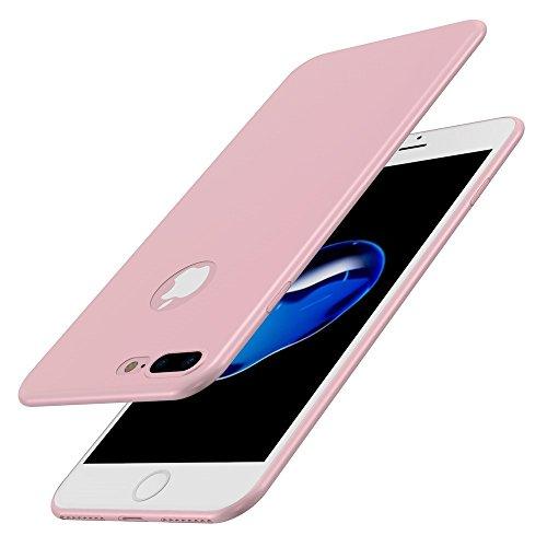 Vanki® Coque iPhone 7, Ultrathin 0.1mm Ultra fine No-fade Dur PC Phone Case Cover Pour iPhone 7 Plus Rose