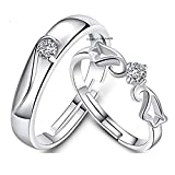 Best Male And Female Rings - Om Jewells Cz Jewellery Rhodium Plated Adjustable Glamorous Review