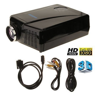 LightInTheBox 3000 lumens Luminosité Videoprojecteur WXGA 1280 * 800 LCD projecteur avec une interface VGA/HDMI/AV USB