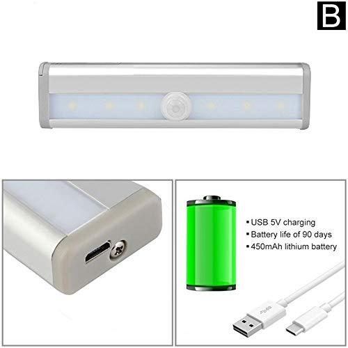 Sensor de movimiento Barra de luces led Tubo Led lámpara USB Batería...