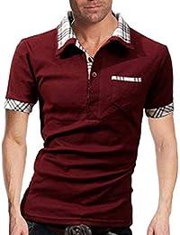 Polohemd Herren Sommer Revers Kurzarm Mit Poloshirt Brusttasche Mode Marken  Kontrastfarbe Slim Fit Mode Casual Golf 358a604445