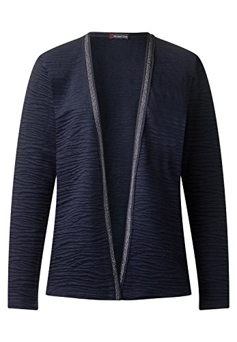 Street One Damen Jacke mit Glitzerbordüre Evening Blue 38 (Heavy Jersey Jacke)