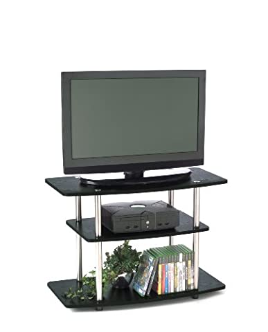 Convenience Concepts 131020 3-Tier TV Stand for Flat Panel TV's up to 32-Inch or 80-Pound, Black by Convenience Concepts