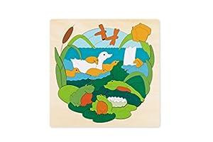 Hape- Puzzle encajable Infantil Capas Animales Lago (Barrutoys E6523)